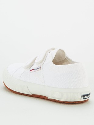Superga Girls 2750 Cotj Strap Classic Plimsoll Pumps - White