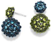 David Yurman Osetra Double-Drop Topaz & Peridot Earrings