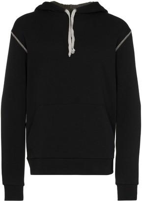 78 Stitches contrast-stitch hoodie