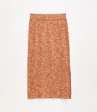 LOFT Lou & Grey Autumn Marled Midi Skirt