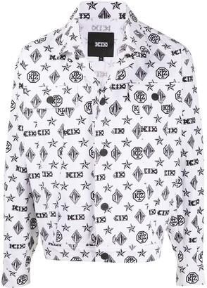 Kokon To Zai Monogram-Print Denim Jacket