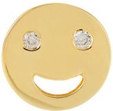 Alison Lou Diamond and yellow-gold Happy stud earring