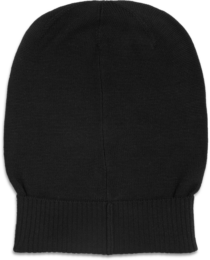 Rick Owens Merino Wool Beanie Hat
