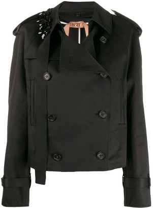 No.21 Embellished Short Trench Coat