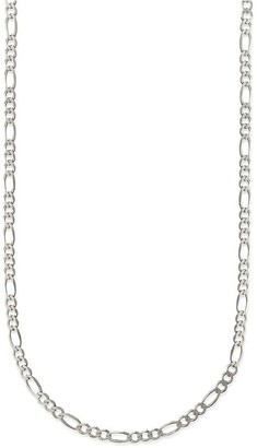 Pori Jewelers 925 Sterling Silver High Polished 4MM Figaro 100 Chain necklace