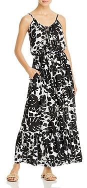 Kate Spade Sleeveless Printed Cover-Up Maxi Dress