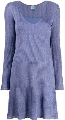 M Missoni Ribbed-Knit Mini Dress