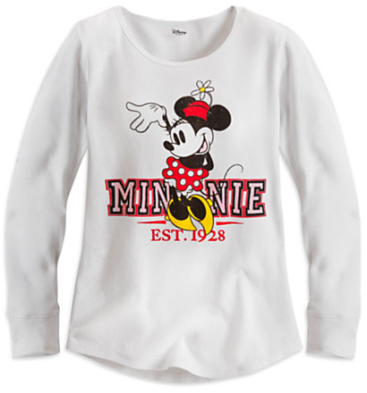 Disney Minnie Mouse Long Sleeve Thermal Tee for Women