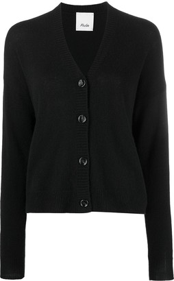 Allude V-neck buttoned cardigan