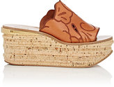 Chloé Women's Camille Wedge Mules-BROWN
