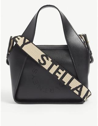 Stella McCartney Circle-logo mini faux-leather cross-body bag