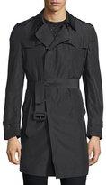 CNC Costume National Long-Sleeve Belted Rain Coat, Black
