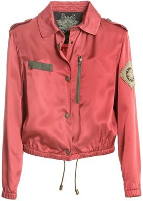 Mr & Mrs Italy Embroidery Fluide Satin Viscose Mini Field Jacket