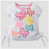 Gerber Graduates® Toddler Girls' Butterflies Top - White