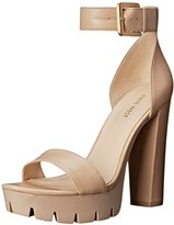 Nine West Women's Indira Leather Heeled Sandal