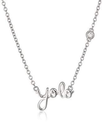 "Syd by SE ""YOLO"" (You Only Live Once) Necklace with Diamond Bezel"