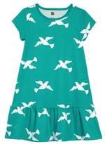 Tea Collection Birds in Flight Ruffle Dress