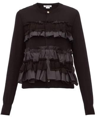 Comme des Garcons Ruffled Wool Cardigan - Womens - Black