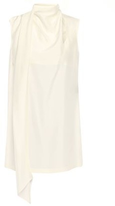 Ann Demeulemeester Draped Silk-habotai Top