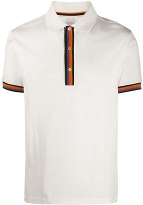 Paul Smith Striped Trim Polo Shirt