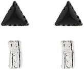 Accessorize Sterling Silver 2x Tribe Stud Earrings Set