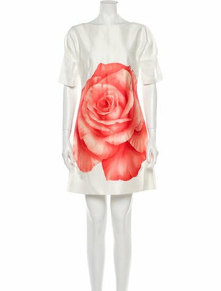 Lela Rose Printed Mini Dress Rose