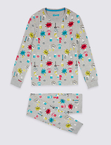 Marks and Spencer All Over Print Pyjamas (1-16 Years)