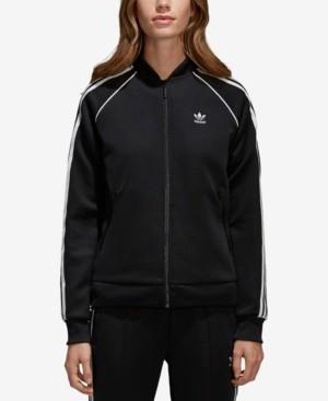 adidas Women's adicolor Superstar Three-Stripe Track Jacket