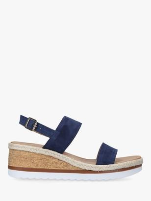Carvela Saint Suede Cork Wedge Sandals