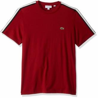 Lacoste Mens Short Sleeve Jersey Striped Sleeve T-Shirt T-Shirt