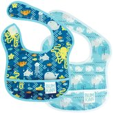 Bumkins Starter Bib - Polyester - Sea Friends/Whales Away - 2 ct