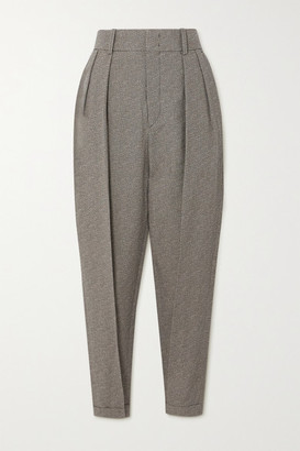 Isabel Marant Oceyo Pleated Woven Tapered Pants - Gray