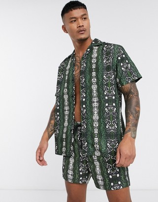 South Beach shirt in snake print