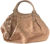 Gucci Sukey Camel Leather Handbags