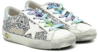 Golden Goose Kids Exclusive to Mytheresa Superstar glitter and leather sneakers