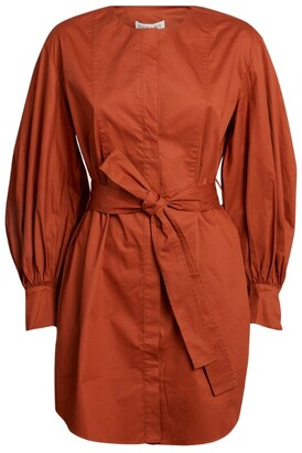 Shona Joy Amaia Balloon-Sleeved Shirt Dress