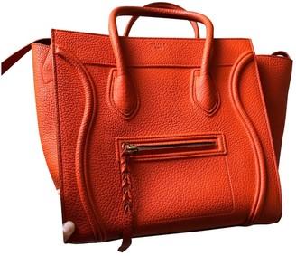 Celine Luggage Phantom Orange Leather Handbags