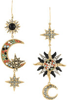 Roberto Cavalli moon and stars mismatched earrings