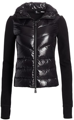 MONCLER GRENOBLE Knit Puffer Vest Zip-Up Jacket