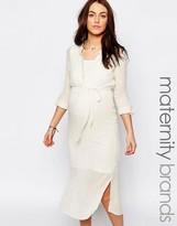 Mama Licious Mama.licious Mamalicious Nursing Woven Midi Dress