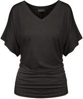 BB Charcoal Flutter-Sleeve Tee - Plus Too