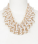 Natasha Accessories Shaky Faux-Pearl & Crystal Statement Necklace