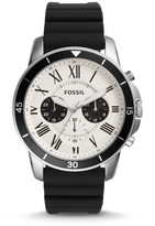 Fossil Grant Sport Chronograph Black Silicone Watch