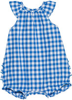 Petit Bateau Baby Girl Checked Poplin Short Coverall