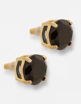 KATE SPADE NEW YORK 12 Kt. Gold-Plated Black Resin Stud Earrings