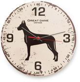 Great Dane Vintage Round Clock