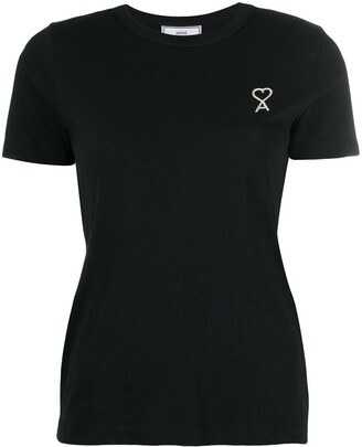 AMI Paris embroidered logo T-shirt