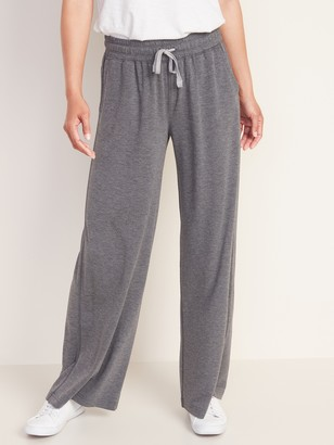 Old Navy High-Waisted French Terry Wide Leg Pants For Women