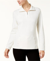 Karen Scott Half-Zip Sweatshirt, Created for Macy's