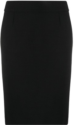 Paule Ka Plain Pencil Skirt